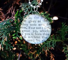 Fear Not Pendant Scripture Necklace Bible Jewelry by GospelHymns