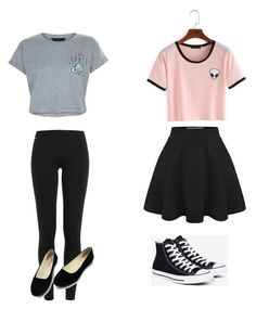 """""""Mix and match back to school"""" by kennyleeann ❤ liked on Polyvore featuring New Look, Polo Ralph Lauren and Converse"""