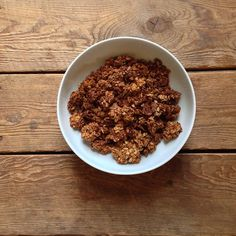 #recipeoftheday // Adapted (just barely) from @100daysofrealfood Granola Cereal #Padgram