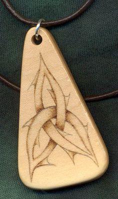@Jenn L Harper  Pyrography Pendant - wood burning
