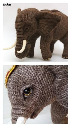 In this article I will share a wonderful amigurumi pattern again. You can enjoy this beautiful amigurumi elephant free english pattern.  Materials  Yarn Pekhorka children's novelty,  1 skein of the main color, half  skein of a different color  Hook 1.5-1.75  Filler  Long needle  Plastic joint or cotter pin  Plastic eyes d = 13mm, with  you can use  baked plastic for protein  Artificial cilia, button  1.5 mm wire for neck  no joint or cotter pin Amigurumi Toys, Crochet Patterns Amigurumi, Crochet Food, Crochet Baby, Elephant Pattern, Crochet Animals, Main Colors, Free Pattern, Dinosaur Stuffed Animal