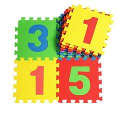 V-SOL Alfombra Tipo Puzzle De Juego Para Niños Bebé Diseño Números – 30*30*1cm / 10pcs