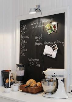 Kitchen Blackboard Tabule V Kuchyni Paint Magnetic Chalkboard