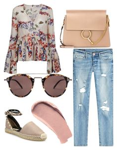 """Untitled #30"" by kloielou on Polyvore featuring True Religion, MSGM, Valentino, Chloé, Oliver Peoples and Burberry"