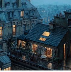 Evening in Paris. By Artist Located in Paris France ______ Welcome to the page ! Your daily dose of the best content ! Tag your friends . City Apartment, Paris Apartments, Apartment Design, Garden Ideas To Make, Paris Rooftops, Beautiful Paris, Belle Villa, Exterior, Rooftop Garden