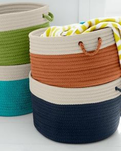 Polypropylene Indoor-Outdoor Braided Baskets
