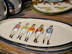 """Off to the Races serving tray by <a href=""""http://louisvillestoneware.com/"""" target=""""_blank"""">Louisville Stoneware</a> for $70"""