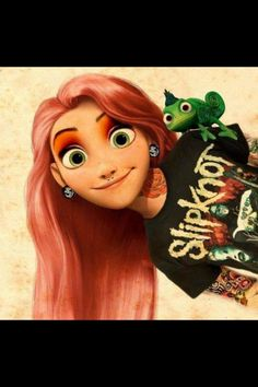 Funny pictures about Modern Rapunzel. Oh, and cool pics about Modern Rapunzel. Also, Modern Rapunzel photos. Dark Disney, Disney Love, Disney Art, Disney Pixar, Disney Songs, Disney Films, Disney Villains, Tattooed Disney Characters, Cartoon Characters