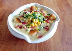 Country burgonya leves recept foto Gnocchi, Cheeseburger Chowder, Soup Recipes, Tart, Bacon, Food And Drink, Cooking, Soups, Kitchen