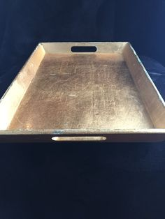 $20 vintage gold tray lightweight gold painted serving tray decorative large gold serving tray shabby gold painted large tray kitchen tray by GlyndasVintageshop on Etsy
