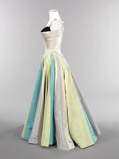 """""""Ribbon""""  Charles James (American, born Great Britain, 1906–1978)  Date: 1947 Culture: American Medium: silk Dimensions: Length at CB: 57 in. (144.8 cm) Credit Line: Brooklyn Museum Costume Collection at The Metropolitan Museum of Art, Gift of the Brooklyn Museum, 2009; Gift of Mrs. Douglas Fairbanks, Jr., 1981.  This is SO GORGEOUS!!!"""