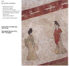 Dos sirivientas. Tumba princesa Zhanguai 706. Museo de Historia de Shaanxi. Dinastía Tang