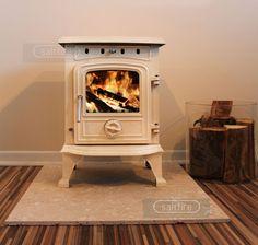 Saltfire 'Hendon' Cream Enamel Woodburning Multifuel Cast Iron Small Stove 4.5kW