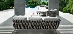 Tosca sofa broad weaving with club chair weather resistant