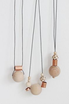 DIY Wood + Copper Necklaces   see kate sew   Bloglovin'