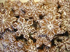Beautifully decorated gingerbread cookies - or ornaments  (just the picture but some can figure it out from that)