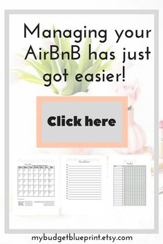 Your Air BnB rental unit is a business and needs it's own business planner to keep on track, be aware of the money coming in and out, and not make the same mistakes! This printable property management kit is a great tool for income property owners and AirBnB hosts. Would also be good for property managers and VRBO owners.