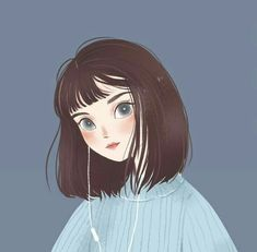 draw art ipad Day 4 of my drawing challenge! Changed my mind a lot with this one 🙈 swipe to see my process video! Art And Illustration, Texture Illustration, Illustrations, Art Anime, Anime Art Girl, Aesthetic Anime, Aesthetic Art, Cartoon Art Styles, Dibujos Cute