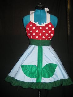 "Super Mario ""Piranha Plant"" Apron by darlingarmy on Etsy"