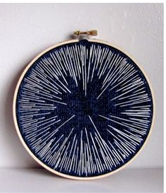 embroidery hoop - night sky edition