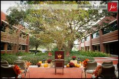 Fall #wedding at the #USF Gibbons Alumni Center.