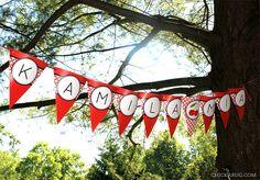Cherry theme party - printable banner