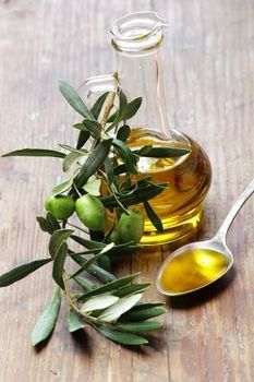 Olive Oil - great moisturizer for dry, lifeless hair.  Helps fight dandruff and split ends.
