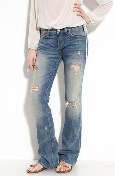 Current/Elliott 'Western' Distressed Stretch Jeans (Super Vintage Wash) | Nordstrom
