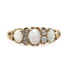 Longridge is a pretty opal and diamond ring circa 1885 from Trumpet & Horn! // $2,400