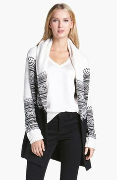 NYDJ Hooded Jacquard Cardigan available at #Nordstrom #clothes #fashion #ropa #moda #sweater