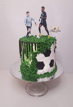 Football Themed Cakes, Football Birthday Cake, Sports Themed Cakes, Sonic Birthday Cake, Birthday Cake For Him, Birthday Cake With Flowers, Cupcake Cake Designs, Cupcake Cakes, Dad Cake