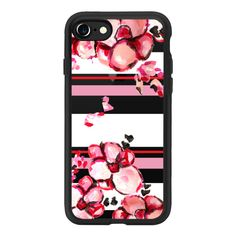 Romantic Red - iPhone 7 Case And Cover ($40) ❤ liked on Polyvore featuring accessories, tech accessories, iphone case, iphone cover case, iphone cases, red iphone case, apple iphone case and clear iphone case