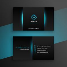 Abstract black business card with blue shade , Business Cards Layout, Professional Business Card Design, Luxury Business Cards, Black Business Card, Elegant Business Cards, Free Business Cards, Business Card Design Modern, Corporate Design, Minimal Business Card