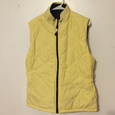 Nike Women's Reversible Vest Size Med Women's Nike Reversible Vest. Yellow on one side and grey/black on the other. Size medium. No trades Nike Jackets & Coats Vests