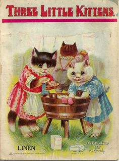 ''Three Little Kittens'' 1911, illustrated by A. E. Kennedy | eBay