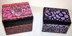 Decorative Wood Boxes keepsake by ARTthroughGRIEF on Etsy, $8.00