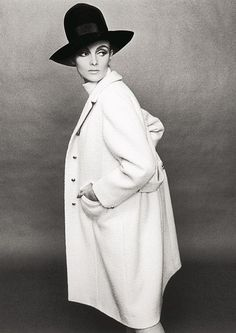 Grace Coddington photographed by Terence Donovan for British Vogue.