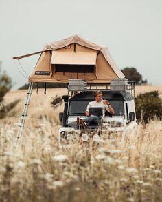 Land Rover Camping, Van Camping, Camping Life, Top Tents, Roof Top Tent, Outdoor Camping, Outdoor Gear, Combi Vw T2, C4 Cactus