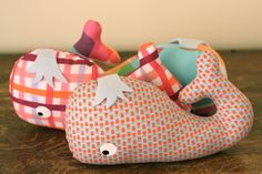 Whale softies by Abby from Things for Boys