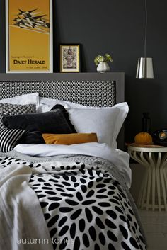 love this headboard! and color scheme