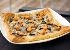 Puff Pastry with Fresh Mushrooms and Bacon