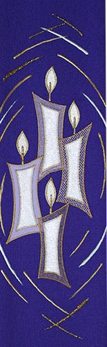 New advent stole from Elizabeth Lawson church vestments advent candles