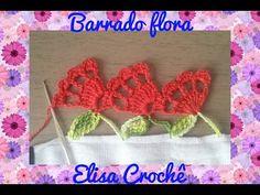 BARRADO FLORA EM CROCHÊ
