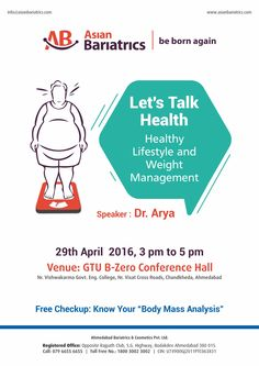 Weight Management & Healthy Lifestyle #event on 29th April,16. #weightloss #obesity #Healthtalk