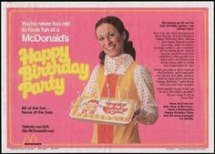 McDonalds Placemat - Birthday Party Hostess - 1980 McDonalds Placemat - Birthday Party Hostess - 1980 by JasonLiebig on.