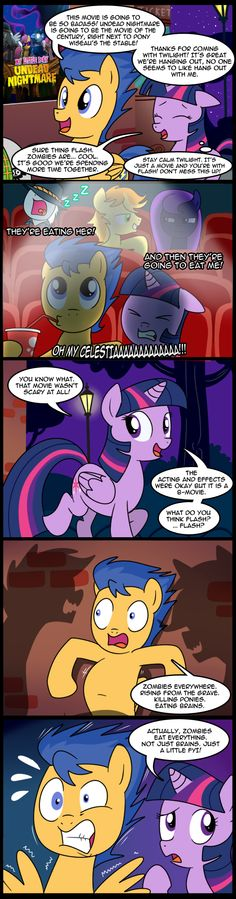 Flash goes to the movies with Twilight! Also the next comic will be the start of a story arc! MLP: EPHF - The First Date (Commission) My Little Pony Poster, My Little Pony Comic, My Little Pony Pictures, Mlp Twilight, Twilight Sparkle, Pocket Princesses, Mlp Comics, Comics Story, Story Arc