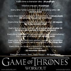 """Are you ready for the """"Game Of Thrones"""" Workout??  Click here to hiit it!"""