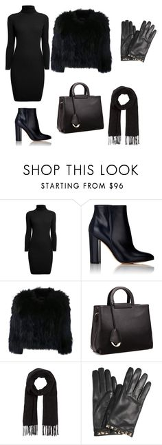 """Black winter"" by fabsgirl ❤ liked on Polyvore featuring Rumour London, Gianvito Rossi, H Brand, Relaxfeel, Comptoir Des Cotonniers and Valentino"