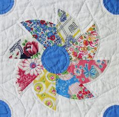 Feedsack pinwheel quilt.  A great twist on the humble pinwheel.  Maybe for the girls' quilts?