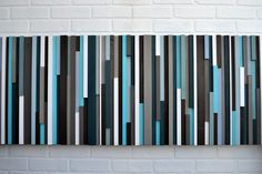 Abstract Painting on Wood -  Reclaimed Wood Art - Wall Art Sculpture